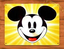 TIN SIGN Walt Disney Mickey Mouse Sunburst Cartoon Movie Art