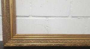Holzrahmen gold verziert Falzmaß ca. 49,3x69,5 cm