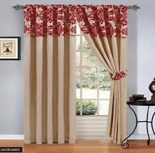 Pencil Pleat Window Curtains Flock Curtain Bedroom & Living Room 66x72 & 90x90