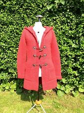 JACK WILLS RED THICK WOOL CARDIGAN UK10