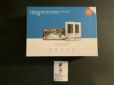 Ring Stick Up 2-Camera Set White Security Surveillance Wireless Battery Hd