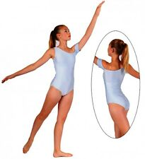 NWT Pumpers Shiny Baby Blue 1 Arm Leotard     Adult S
