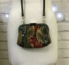 Vintage Fendi Crossbody Frame Bag - Snakeskin and Leather
