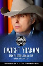 DWIGHT YOAKAM 2015 SAN DIEGO CONCERT TOUR POSTER- Country, Honky Tonk, Bluegrass