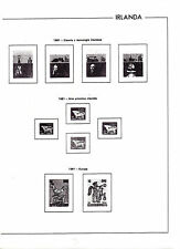 Irlanda Hojas EDIFIL año 1981-90 (BF-785)