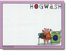 Hogwash Funny Sticky Notes Post It Note Pad - Greeting Card by Oatmeal Studios