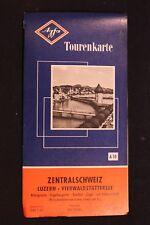 Agfa Map Tourenkarte Zentralschweiz Luzern - Vierwaldstättersee 1:87.000 1957