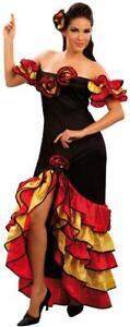 Halloween Ladies Fancy Dress Rumba Woman Africa Indiana Costume Flamenco Dancer