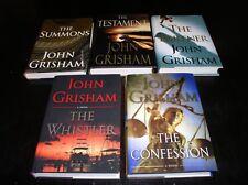 5 John Grisham THE WHISTLER,CONFESSION,SUMMONS,TESTAMENT,PARTNER ~1ST/1ST ~NICE!