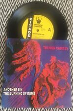 """THE NEW CHRISTS Another Sin / The Burning Of Rome - 7"""" Vinyl Record"""