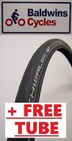 700 X 25c SCHWALBE LUGANO BLACK REFLEX 2016 Road Bike Tyre + FREE TUBE*