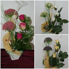 Kunstblumen in Topf Kunstblume Tischdeko künstliche Blumen Dekoration Dekor TD3