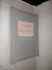 ELEMENTI DI DIRITTO CIVILE Ugo Krieg Principato 1963 libro diritto giuridica di