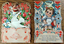 Two Antique German 1920s Pop-up Victorian Style Valentine's Day Cards