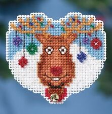 Mill Hill Beads Cross Stitch Kit with Bell and Magnet REINDEER GAMES #18-1631