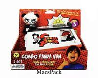 "Ryan's World Combo Panda Van Vehicle Pull Back Action and 3"" Figure VHTF"
