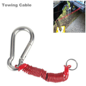 Foot Breakaway Cable Spring Clip RV Trailer Tow Connector 80-01-2160 Steel Wire