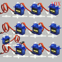 10pcs x 9G SG90 Mini Micro Servo For RC Robot Helicopter Airplane Car Boat SP