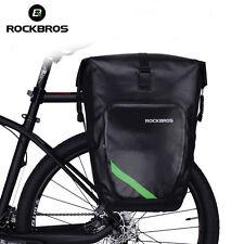 RockBros Completely Waterproof Pannier Bag Bicycle Classics Rear Carrier Black