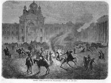Warschau, Warszawa, Polen, Krasiński-Platz, russ.Truppen, Orig-Holzstich 1861