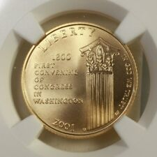 2001 W Capitol $5 Gold NGC MS70 ***Rev Tye's Stache*** #0007700