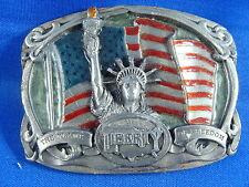 Statue of Liberty the Flame of Freedom Belt Buckle 1985 Bergamot