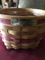 LONGABERGER 1994 Christmas Collection JINGLE BELL Basket red bands