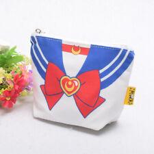 Sailor Suit Pattern Coin Purse Anime Sailor Moon Cosmetic bag Pen Bag 6 Colors