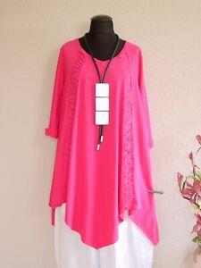 Moonshine Fashion° Lagenlook Zipfel Tunika Kleid A-Linie ~ Pink ~  2