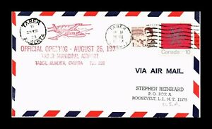 DR JIM STAMPS TABER ALBERTA CANADA MUNICIPAL AIRPORT OFFICIAL OPENING COVER