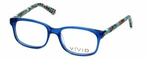 Calabria Viv SMALL 48 mm Designer Reading Glasses 144 in Crystal Blue PICK POWER