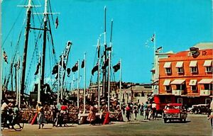 Barbados West Indies Trafalgar Square  Postcard used 1970 from Jamaica