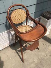 Highchair Antique Austrian Fischel Bent wood High Chair