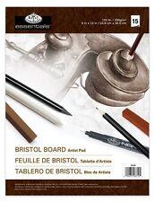 "Royal & Langnickel Bristol Board Pad Artist Pad 15 Sheet 9"" x 12"" 230gsm RD348"