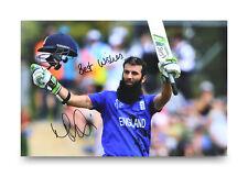 New listing Moeen Ali Signed 12x8 Photo Cricket Ashes Autograph Memorabilia + Coa