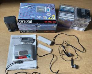 Aiwa AM-HX30 Personal MiniDisc Player Walkman remote Box instructions disc Extra