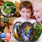 Dream Crystal Transparent Dragon Egg Resin Sculpture Home Decor Surprise Gift US
