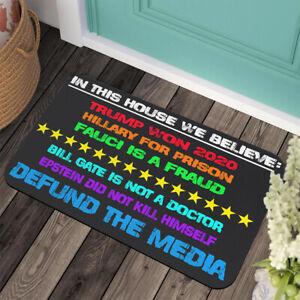 We Believe Trump Won 2020 - Large Welcome Indoor Outdoor Mat Anti-slip Doormat