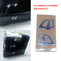 Pour TAMIYA 1/14 SCANIA 620 470 RC Car Door Handle Sticker Left+Right Metal Set