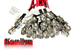 25x Edelstahl LED-Spots Mini Lichtpunkte 12V Motiv-Himmel & LED Trafo