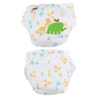 5PCS Lovely Elephant Printing Adjustable Reusable Washable Cloth Diaper Nappies