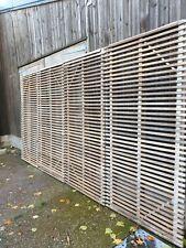 More details for hardwood slatted fencing panels