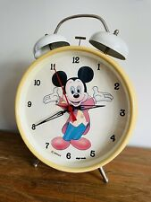 More details for vintage   large mickey mouse disney mechanical alarm clock   extremely rare