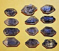 Collection Of 12 Small Double Terminated Crystals W Carbon Inclusions From Tibet