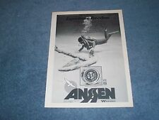 """1975 Ansen Mag Wheels Vintage Ad with Scuba Sea Diver """"Experience Freedom"""""""