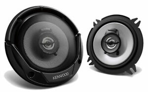"Pair Kenwood KFC-1366S 5.25"" 500W Peak 2-Way Car Power Audio Coaxial Speakers"