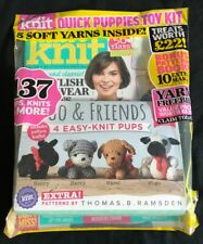 New! Sealed! Let's Knit Magazine Jan 2020 Issue 153 4 Easy Knit Pups Kit Ramsden