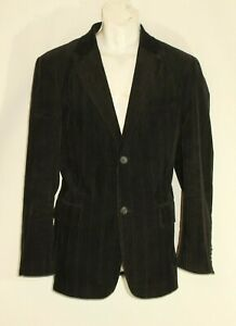 Black Corduroy SELECTED Button Tailored Fit Casual Jacket Blazer Size 42 / 52