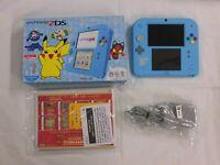 W4766 Nintendo 2DS console Light Blue Pokemon Sun & Moon Limited Edition w/box