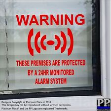 CLEARANCE 1 x PREMISES Protected Alarm System-Internal Sticker-Warning,Security